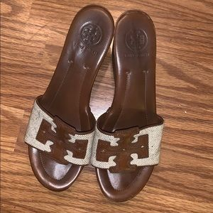 Tory Burch wedge slides size 8